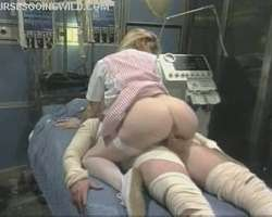 Busty Uniformed Nurse